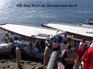 Boot an Botanischer Insel
