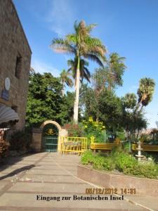 Eingang botanische Insel Ägypten