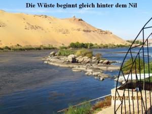 Wüste hinter dem Nil