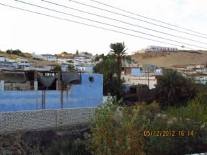oberirdische Stromleitungen in Ägypten