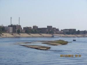 Blick von der Lady Mary auf den Nil
