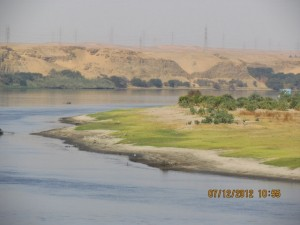 Panoramablick von der Lady Mary auf den Nil