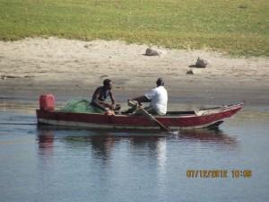 Ruderboot auf dem Nil