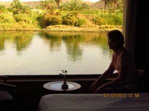 Kabinenblick von Lady Mary auf den Nil