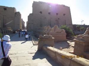 Eingang zum Karnak Tempel