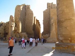 Beindruckende Architektur im Karnak Tempel