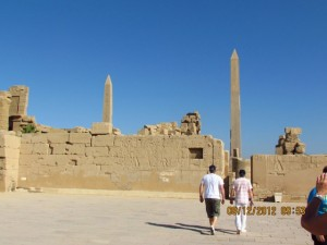 Aussenansicht Karnak Tempel
