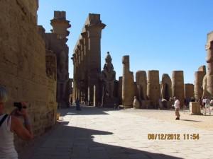 Platz im Luxor Tempel