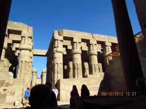 Luxor Tempel Besucher