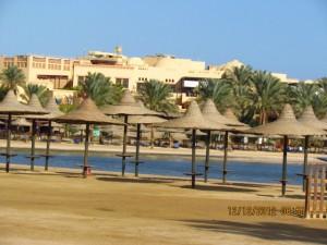 Sonnenschirme vom Iberotel Lamaya Resort