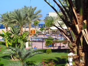 Gartenanlage vom Hotel