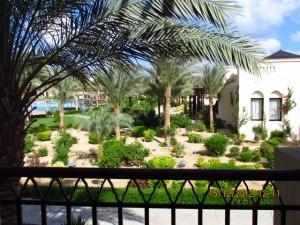 Blick vom Balkon im Iberotel Lamaya Resort