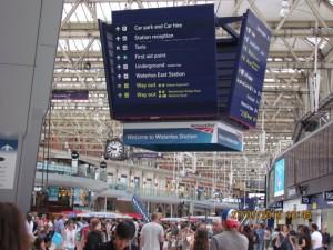 Waterloo Station in London