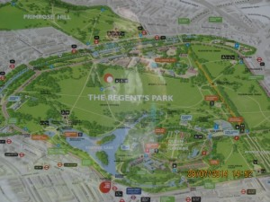 Karte Regents Park