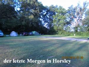 der letzte Morgen in Horsley