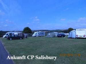 Ankunft Camping Platz Salisbury