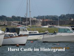 Hurst Castle im Hintergrund