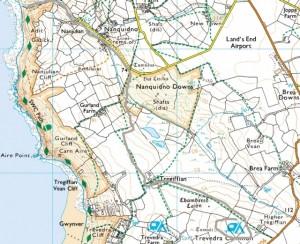 Karte South West Coast Path