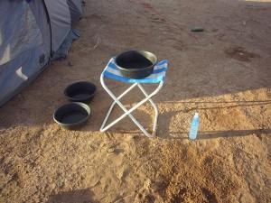 Morgentoilette in der Wüste