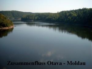 Zusammenfluss Otava - Moldau