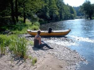Kanu fahren Richtung Zlata Koruna