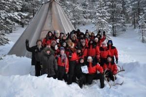 Urlaub in Lappland als Single - aber nicht alleine