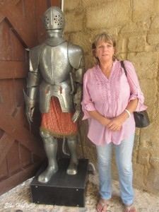 am Eingang des Castillos Santa Catalina