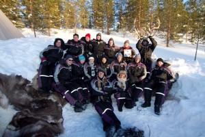 Alleinreisende in Lappland