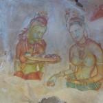 Wolkenmädchen in Sigiriya