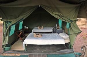 Unsere sehr komfortablen Zelte im Hwange Nationalpark