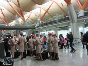 die Crew von Emirate Airlines