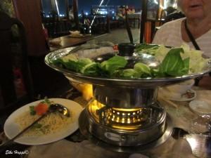 der Fisch-Pot, eine Spezialität in Vietnam