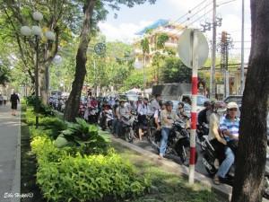 Mopeds sind die häufigsten Verkehrsmittel in Vietnam