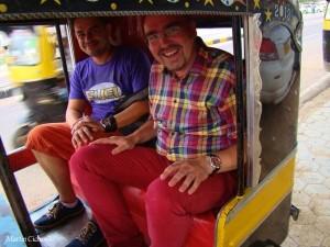 und auch mal im Tuktuk unterwegs!