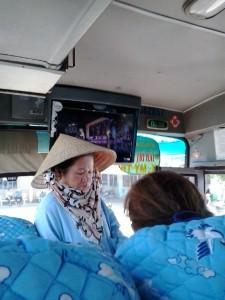 Fahrgäste auf dem Weg nach Vinh Long