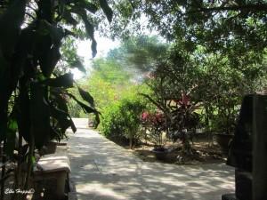die Einfahrt zu unserem Homestay auf An Binh