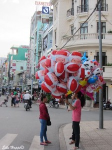 weihnachtliche Luftballons