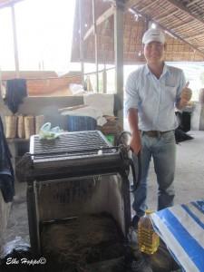 Hier entsteht das Endprodukt: Reisnudeln