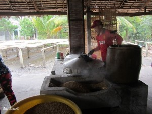 der Teig wird gebacken