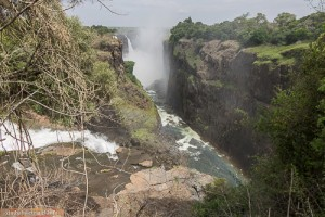 Am Devils Cataract, Victoria Falls