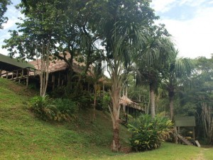Blick auf das Haupthaus der Eco Lodge Reserva Natural Palmari