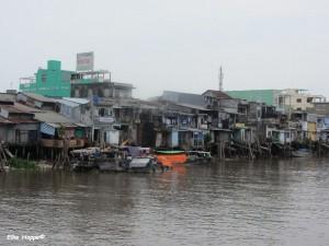 das Leben am Fluss im Mekong Delta