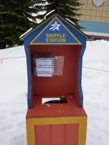 Taschentücher: gratis und greifbar, das wäre mal eine Idee für die europäischen Skigebiete