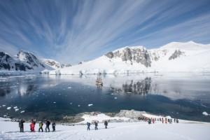 Landgang und Besuch der Antarktis