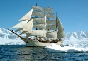 Die Bark Europa in der Antarktis