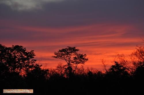 Sonnenaufgang im Kazuma Pan Nationalpark