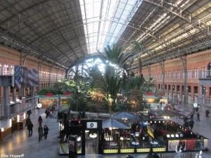 der Bahnhof Atocha in Madrid mit einer Temperatur von 3ºC
