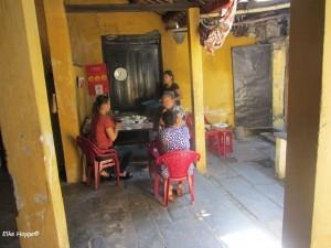 Besuch in einer privaten Küche