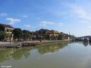der Thu Bon Fluss in Hoi An