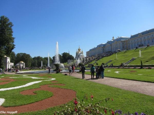 Peterhof, die Sommerresidenz des russischen Zaren Peter I